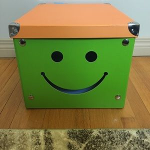 Other - Foldable green and orange happy face boxes (2)
